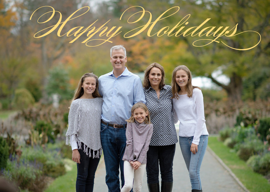 472 Happy Holidays Photo Holiday Card