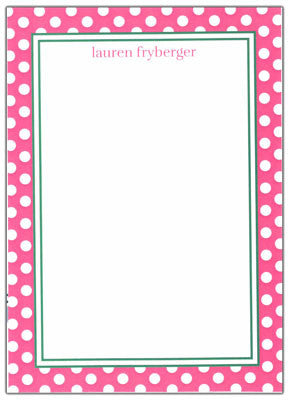 Preppy Polka Dot Stationery/Notepad