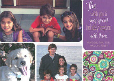 946 Purple Box Holiday Card