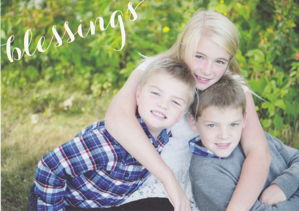 580 Blessings Photo Holiday Card