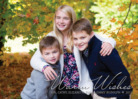 909 Warm Wishes Photo Holiday Card