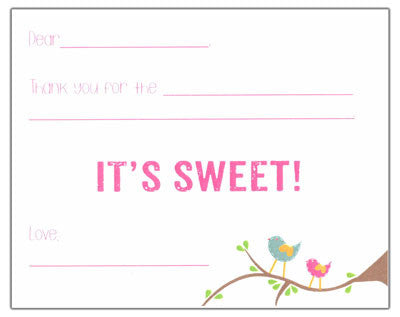 Sweet Birds Fill-in-the-blank Stationery