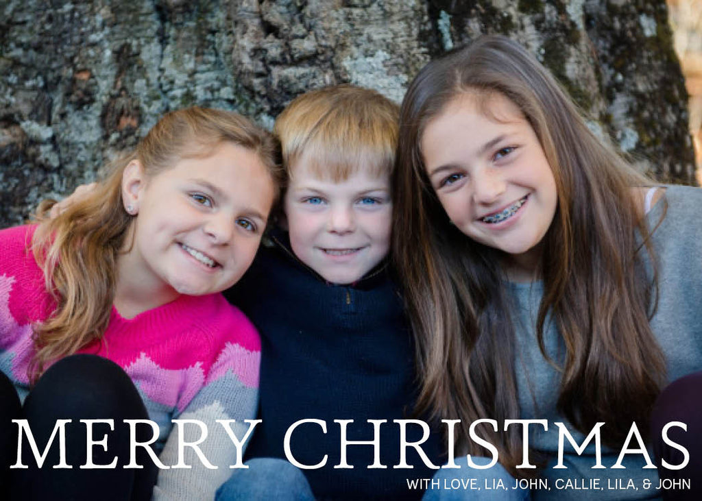 910 Merry Christmas Photo Holiday Card