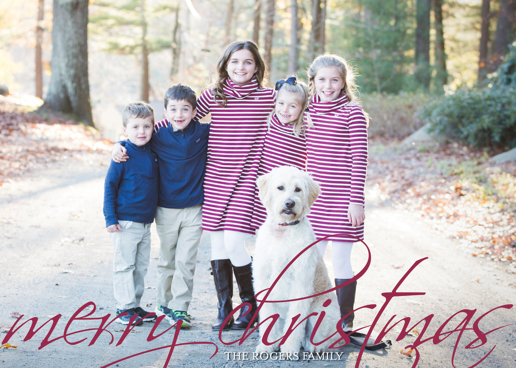 448 Merry Christmas Photo Holiday Card