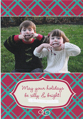 018 Silly Bright Photo Holiday Card