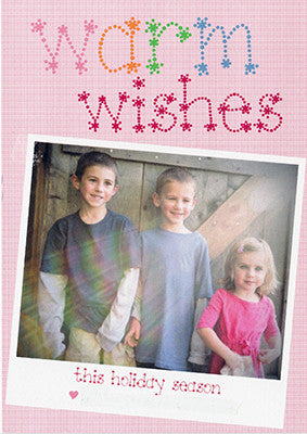 531 Whimsical Warm Wishes Photo Holiday Card