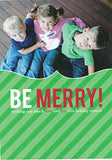 525 Be Merry Stripes Photo Holiday Card