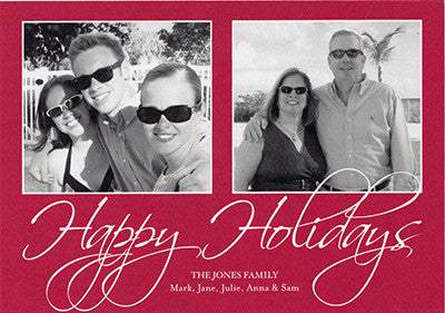 008 Happy Holidays Photo Holiday Card
