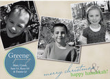 510 Hanukkah Christmas Photo Holiday Card 9