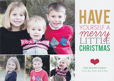 009 Have a Merry Little Christmas Photo Holiday Card