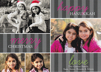 511 Happy Hanukkah Merry Christmas Photo Holiday Card