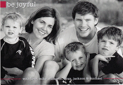 526 Be Joyful Photo Holiday Card