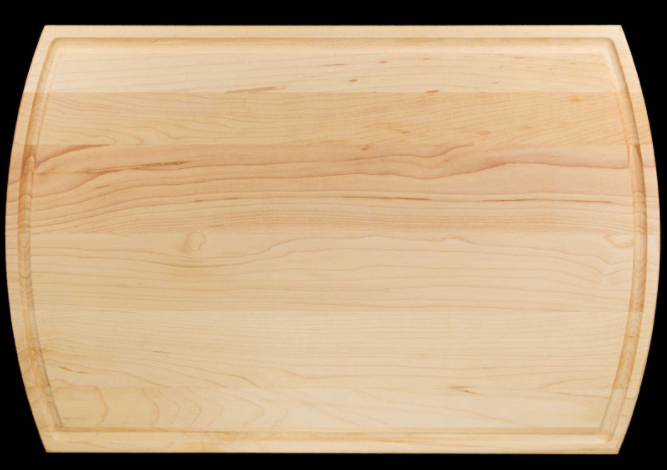 "16""x10.5"" Groove Personalized Maple Cutting/Serving Board"