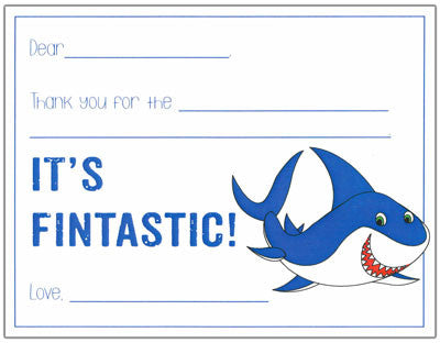 Shark Kids Fill-in-the-blank Stationery