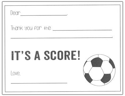 Soccer Kids Fill-in-the-blank Stationery