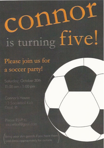Soccer Kids Birthday Invitation