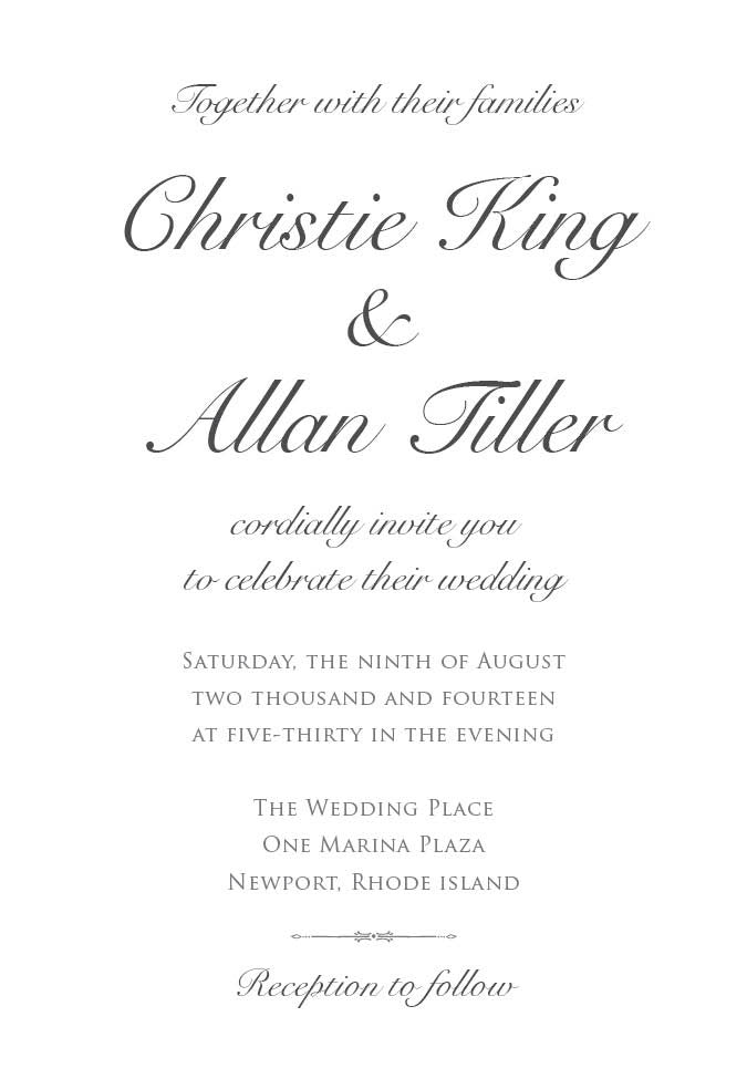 Simple Script Wedding Invitation