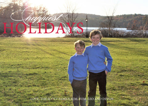 437 Happiest Holidays Photo Holiday Card