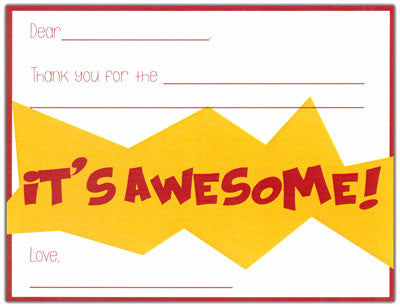Super Hero Fill-in-the-blank Stationery