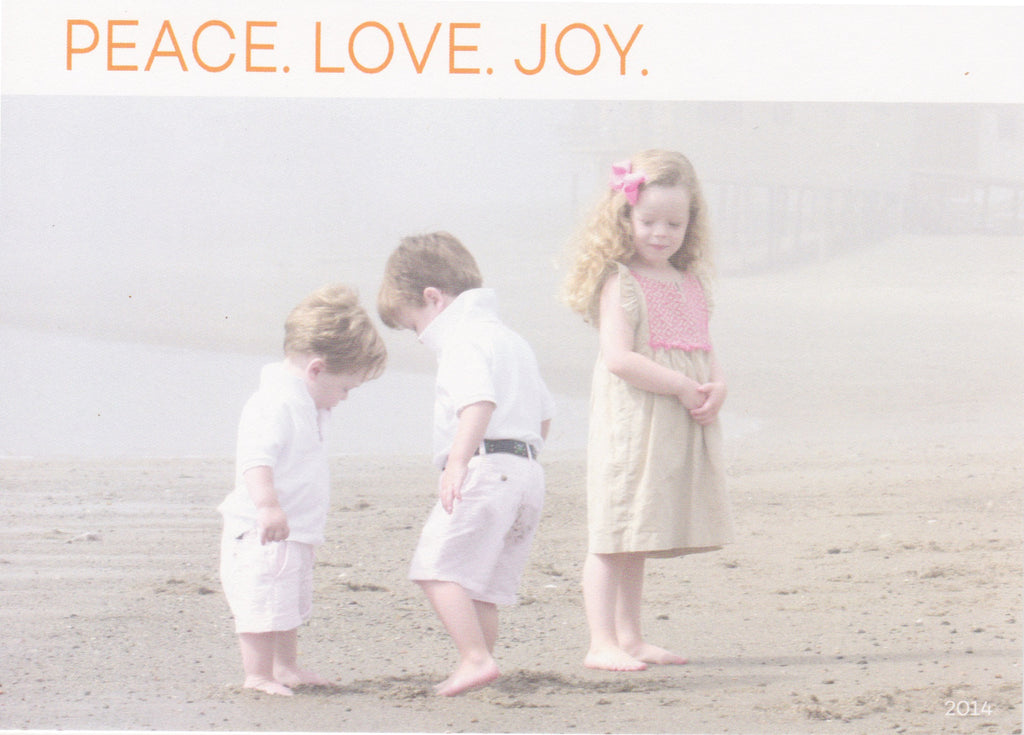 572 Peace Love Joy Holiday Card
