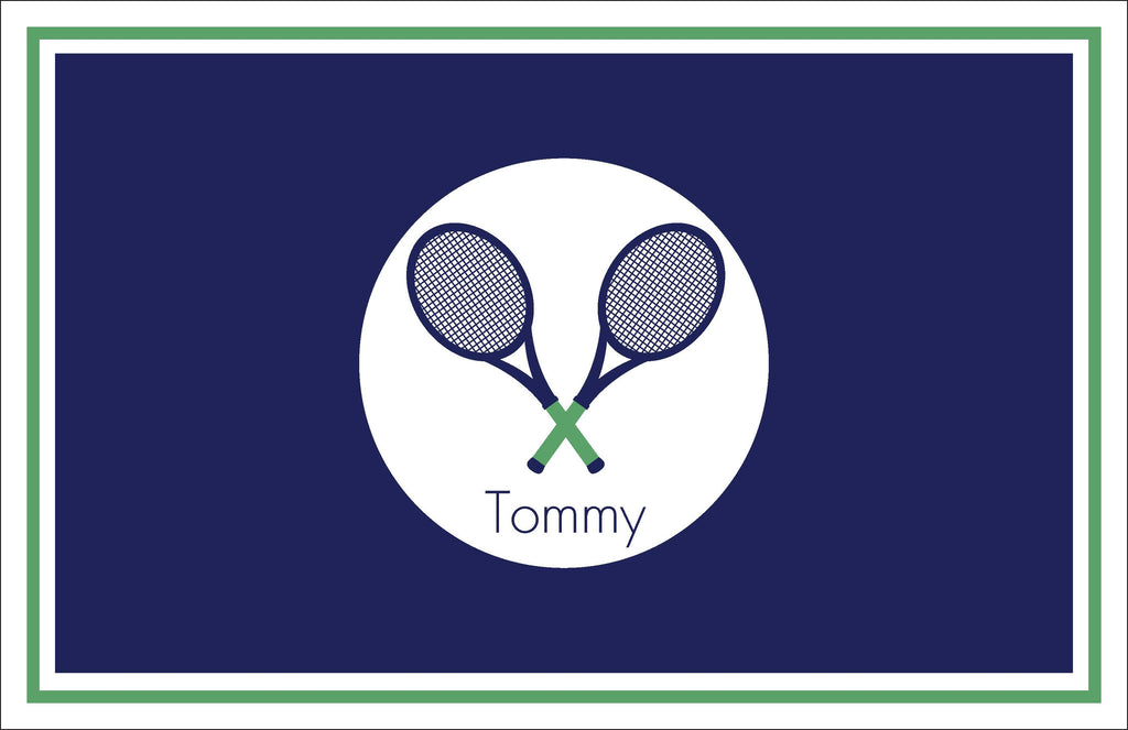 Tennis Raquets Personalized Kids Placemats