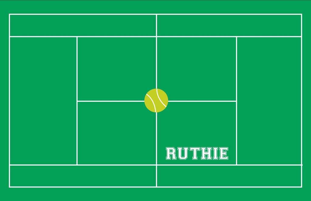 Tennis Court Personalized Kids Placemats