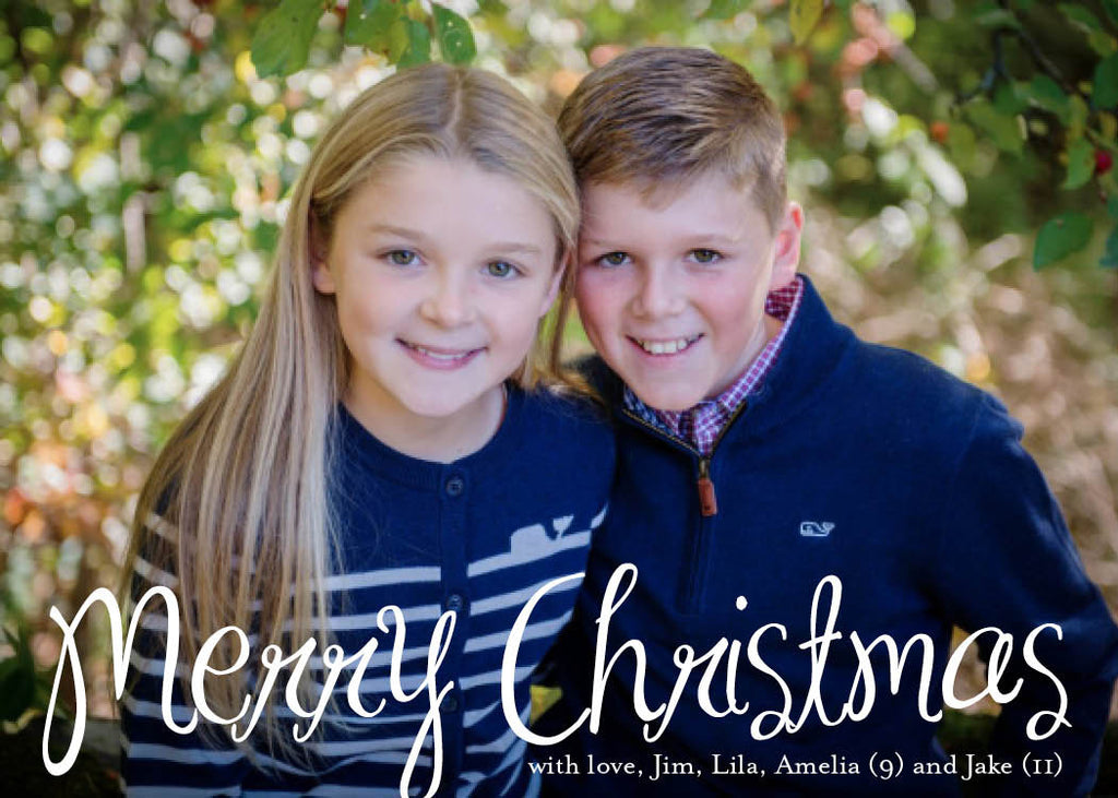 914 Merry Christmas Photo Holiday Card