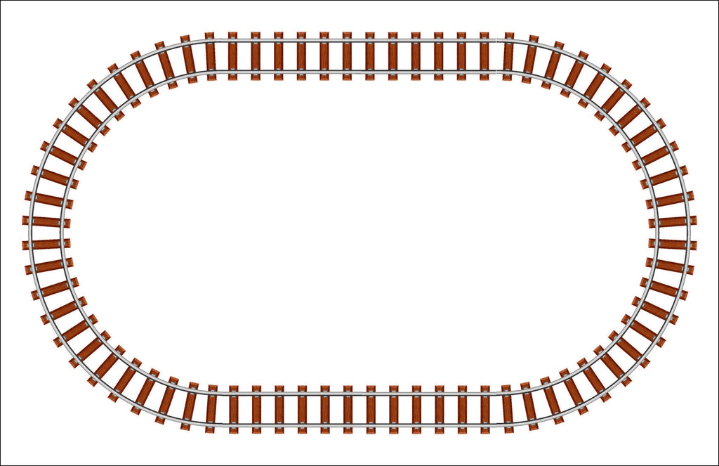 Train Tracks Personalized Kids Placemats