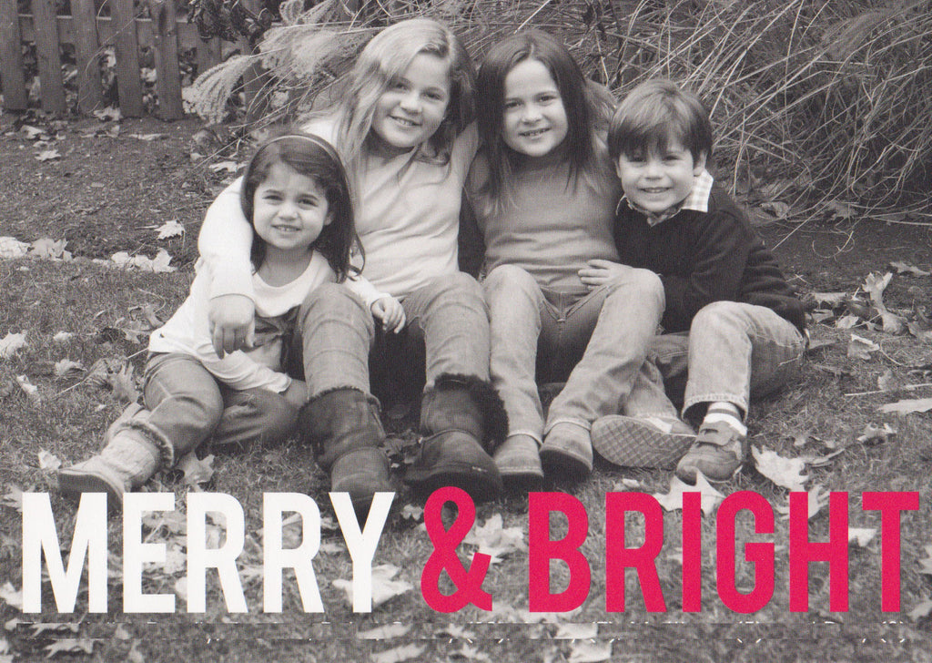 599 Merry and Bright Photo Holiday Card