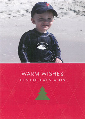 961 Warm Wishes Christmas Tree Photo Holiday Card