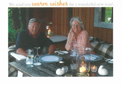 543 We Send Warm Wishes Photo Holiday Card