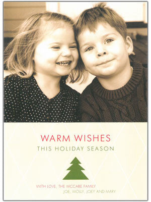 021 Warm Wishes Tree Photo Holiday Card