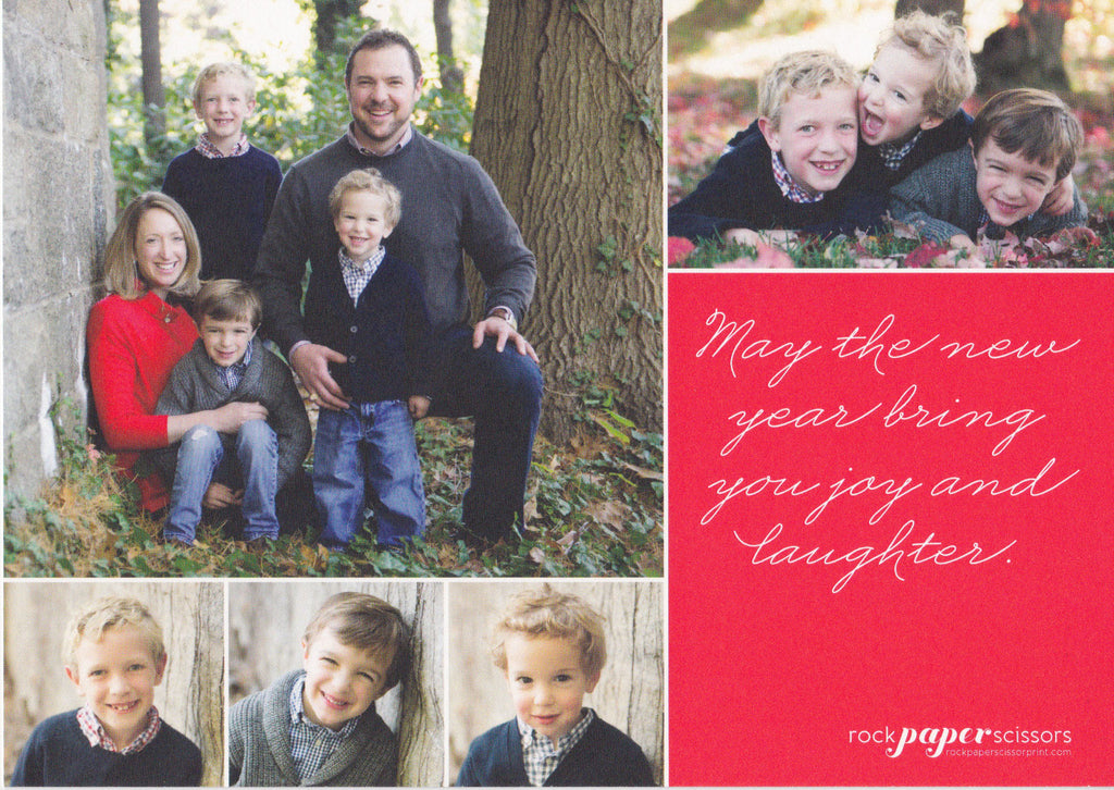 587 Be Merry Script Holiday Card