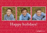 452 Warm Wishes Photo Holiday Card