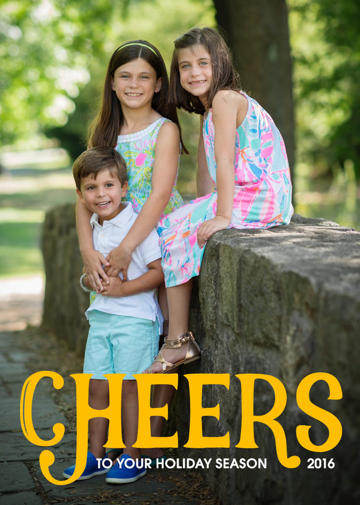 483 Cheers Photo Holiday Card