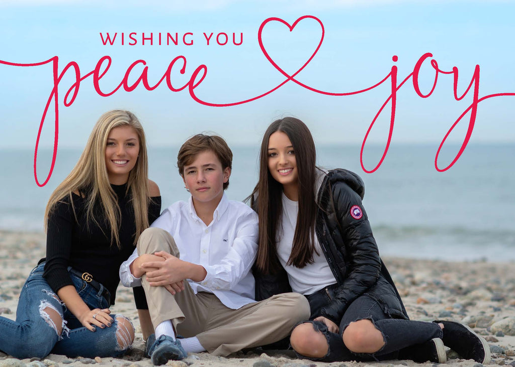 402 Wishing you Peace and Joy Photo Holiday Card