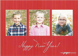 590 Warm Wishes Script Photo Holiday Card