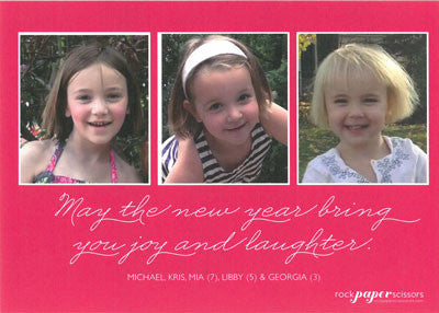 558 Be Merry Script Holiday Card