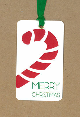 Candy Cane Red Say Anything Holiday Gift/Wine Tags