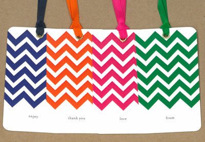 Chevron Multi Pack Say Anything Gift/Wine Tags