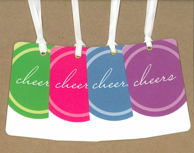 Circle Cheers Say Anything Gift/Wine Tags