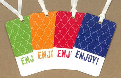 Enjoy Bird Cage Say Anything Gift/Wine Tags