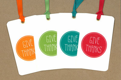Give Thanks Say Anything Holiday Gift/Wine Tags