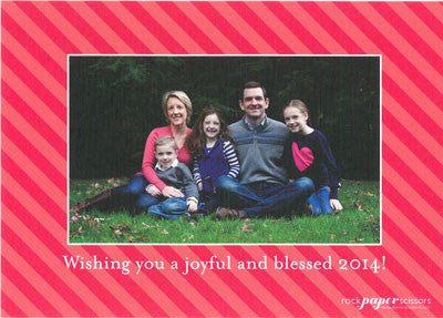 546 Simple Happy Holidays/Merry Christmas Holiday Card