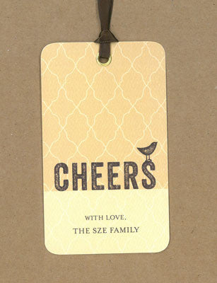 Gretchen Natural Say Anything Gift/Wine Tags
