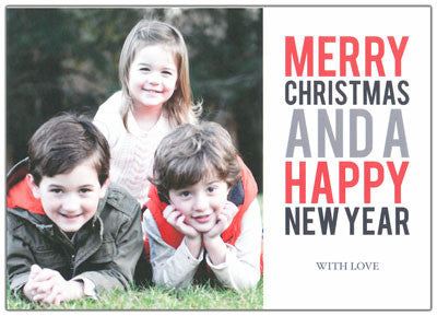 950 Merry Christmas and Happy New Year Holiday Card