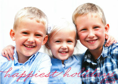 957 Happiest Holidays Photo Holiday Card