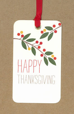 Thanksgiving Berries Say Anything Holiday Gift Wine Tags