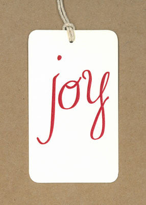 Joy Red Say Anything Holiday Gift/Wine Tags
