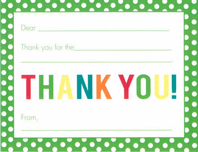 Green Polka Dot Fill-in-the-blank Stationery